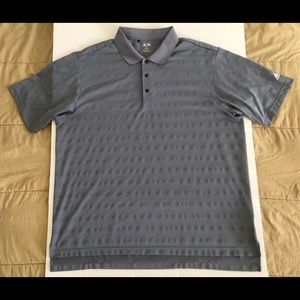 Adidas Golf Gray White Active Athletic Polo Sz XXL